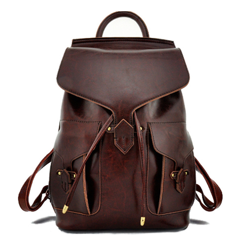 women backpack leather bags vintage backpack school ...