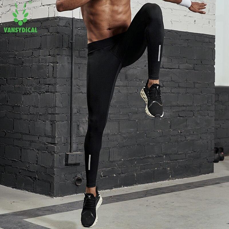 Neueste Kollektion Von Vansydical Herren Compression Tights Lauf Hosen Stretchy Fitness Gym Workout Leggings Strumpfhosen Außen Reflektierende Sport Hosen GroßE Auswahl; Strumpfhosen Sportbekleidung