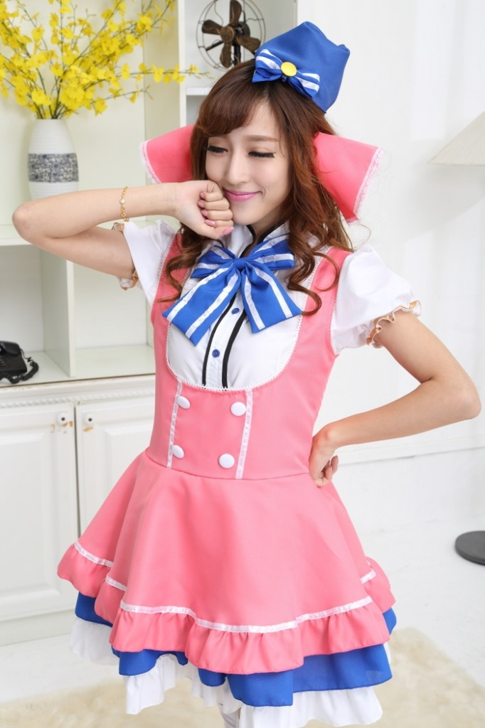 Love Live Pink Girls Series Japanese Cosplay Costume Cute -1479