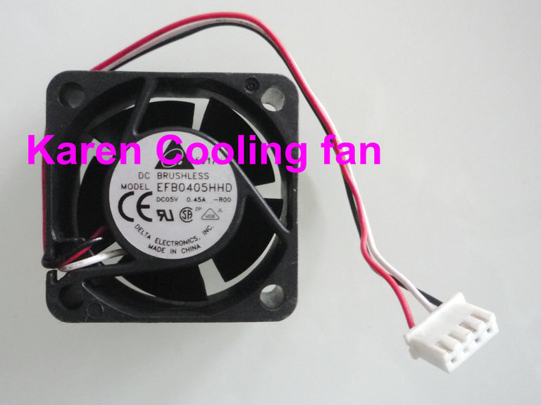 DELTA 4CM EFB0405HHD -R00 4020 <font><b>5V</b></font> 0.45A 3WIRE Cooling <font><b>fan</b></font> 40*40*<font><b>20mm</b></font> image