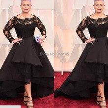 27433419f0cd4 2017 Oscars Evening Dresses Bateau Long Sleeve Lace Hi-Lo Sweep Train Prom  Dresses Celebrity