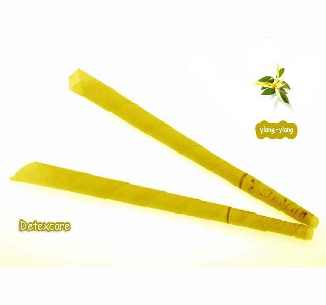 102pcs lot Aromatherapy ear candles ylang ylange scent indian trumpet ear wax candle with protective disc