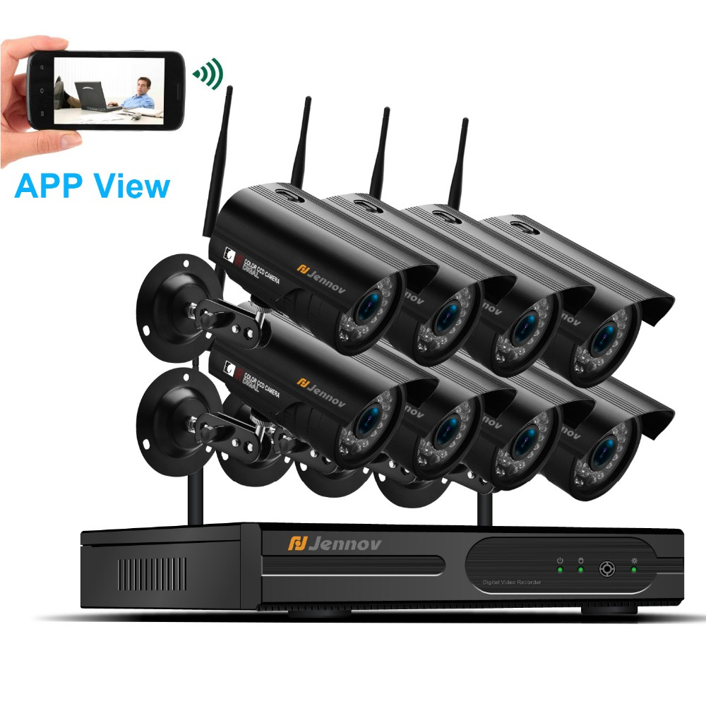 8Ch Wifi Camera System Wireless Home Security CCTV System Video Surveillance Kit CCTV Set NVR Wifi 1080P ip Camaras HD IR View 8ch cctv kit 960p home wireless cctv security camera system with nvr hd wifi video outdoor surveillance kit app remote view