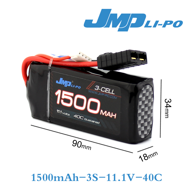 JMP Lipo Battery 3S 1500mAh Lipo 11.1V Battery Pack 40C Battery For TRAXXAS 1/16 Summit E-revo Slash