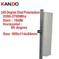 15dbi двойной поляризация + 45 & 45 градусов 2300 2700 мГц телефона сигнал антенны базовой станции 4 г антенный усилитель антенна базовой станции