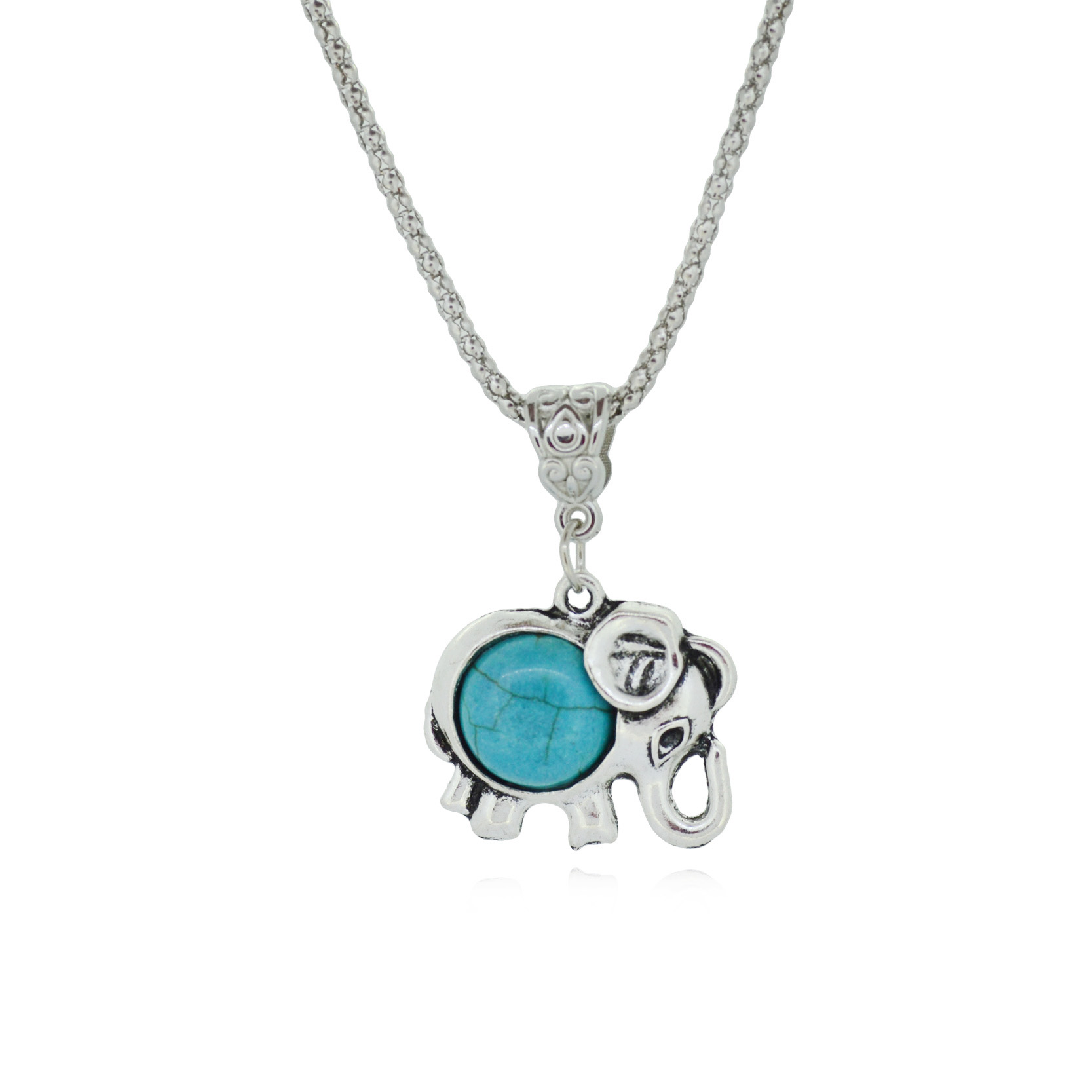 Trendy Vintage Metal Elephant Necklace