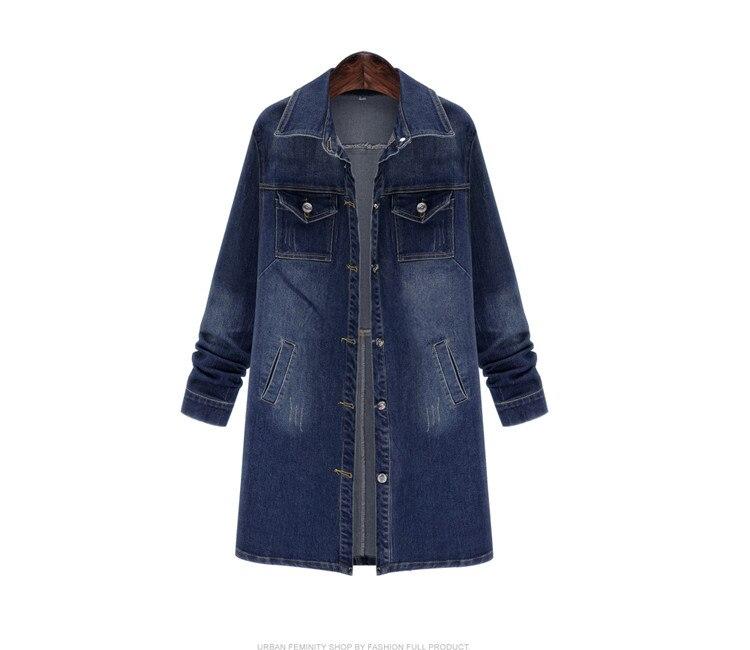 Outono inverno mulheres denim jaqueta de manga