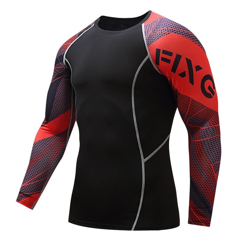 Гаряча в злочині стиснута футболка фітнес щільна сорочка з довгими рукавами щільно підходить, щоб приєднатися до ММА фітнес-спортивного одягу