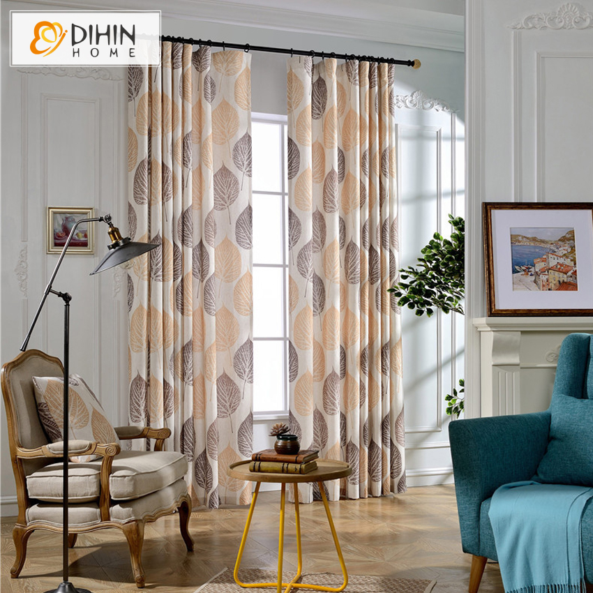 Hot Sale Cotton Linen Curtain Garden Curtains For Living Room Custom Made Cortina Window Drapes