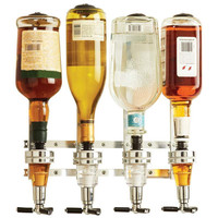 New Wine Dispenser Machine Wall Mounted 4 Station Liquor Bar Butler Drinking Pourer Home Bar Tools For Beer Soda Coke Fizzy Soda