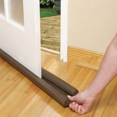 Useful Tools Coffee Color Twin Door Draft Dodger Guard Stopper Energy Save Doorstop Protector Doorstop Rom Damage