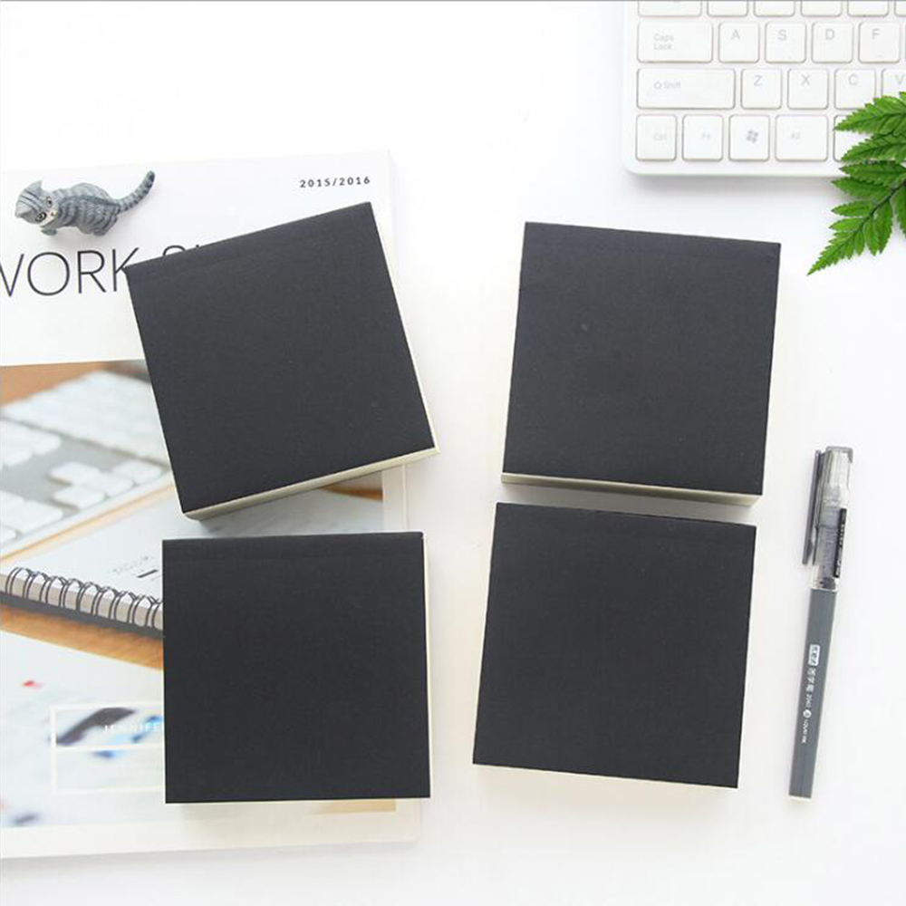 Perfect Binding Black Blank Mini Paper Memo Pads 150 Sheets Much Thicker Portable Noted Notepads Office School Stationery Books