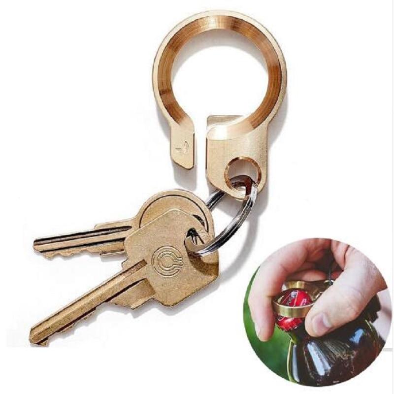 EDC 304 Shishe çeliku inox Opener çelës i punuar me dorë bronzi - Kampimi dhe shëtitjet - Foto 1