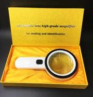 20X-30X loupe de poche loupe à LED loupe de bijoux avec 12 LED de lumière loupe lentille de lecture haute définition HD