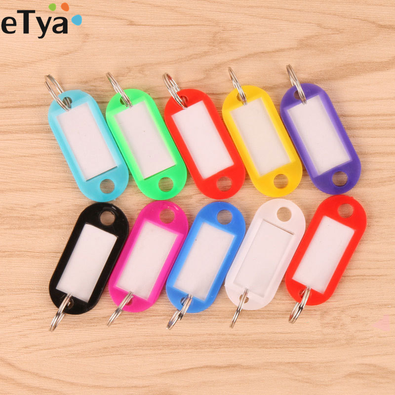ETya  Women Men Children Candy Colour Key Holder Fashion ID Name House Card Number Label Keyring Wallet Bag