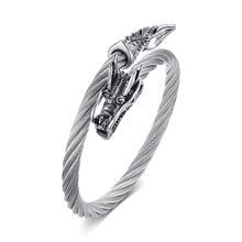 Twisted Cable Dragon Cuff Bracelet for Men