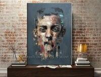 الأقمشة الأفريقية الرجل وجه اللوحة الشهيرة الرسام التجريدي الفن الرسومات snazaroo وجه الطلاء النفط اللوحة فن الصورة