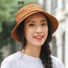 INMAN Bucket Bat Women 100% Cotton Solid Color Sunshade Cap Chic Net Red Corner Hat delicate solid color bat necklace for women