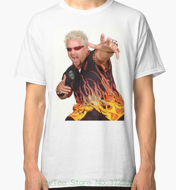 f952bc68 Guy Fieri Men's White Tees Shirt Clothing Casual Plus Size T-shirts Hip Hop  Style Tops Tee S-2xl