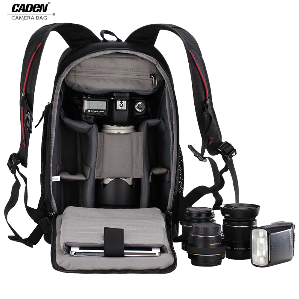 CADeN Digital DSLR Camera Backpack Tripod Bag Backpack For The Camera Multi capacity Waterproof Photo Backpack