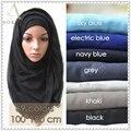 10 unids/lote islámico musulmán hijab bufanda viscosa liso sólido maxi moda bandana foulard mujeres chales bufandas largas hijabs wraps