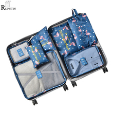 RUPUTIN New 7Pcs/set Travel Organizer Suitcase Clothes Finishing Kit Portable Partition Pouch Storage Bags Home Wardrobe Packing