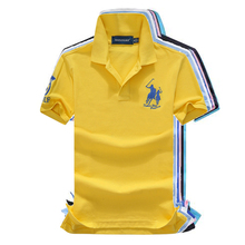 High Quality Tops&Tees Men's Polo Shirts Business Men Brands Polo Shirts 3D Embroidery Turn-Down Collar Mens Polo Shirt P855