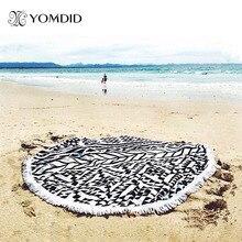 Grand Microfibre Serviettes De Plage Ronde/150 cm Diamètre Avec Glands Bain de Soleil plage Serviettes/Dame toallas playa serviette de bain
