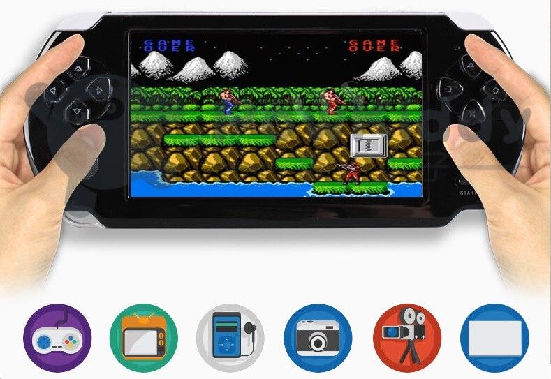 "5.1 inch X10 handheld arcade for ""GBA CPS NEOGEO"" 8-bit NES big screen handheld game console new listing"