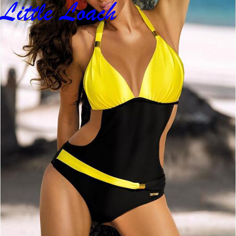 Summer Woman One Pieces Bikini Swimwear Swimsuit With Sequins Swimming Suit 2017 New Style Girl's Beach Bathing Wear 4 Colors 2017 may beach halter bikini one pieces indoor asian swimsuit miley cyrus costume departure beach black swimsuit seafolly