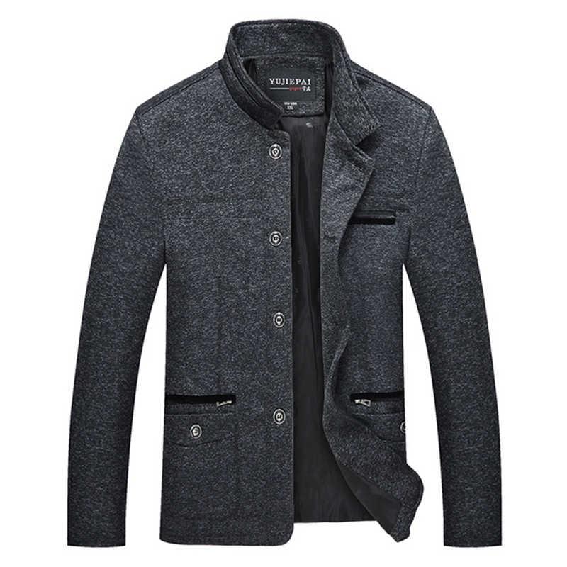 Frühling Herbst Casual Männer Jacke Windjacke Dünne Klassische Solide Street Taste Stehkragen 2019 Graben Mantel Für Männliche Outwear