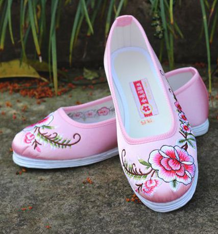 Old peking embroidery pattern women girls loafers flat heel shoes for spring summer PR1824 floral flower fashion style 2017