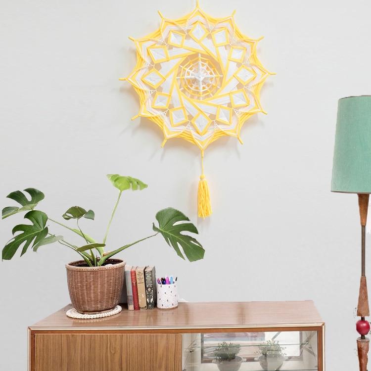 Attrapeur de rêves enroulement Mandala nordique décoration maison dieu oeil créatif décoration pendaison de crémaillère Habitacion cadeau