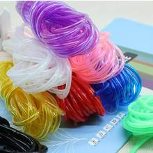 SICODA 2/3mm 10m candy color plastic tube DIY woven basket kindergarten diy material hollow soft PVC pipe transparent rope(China)