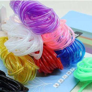 SICODA 23mm 10m candy color plastic tube DIY woven basket kindergarten diy material hollow soft PVC pipe transparent rope