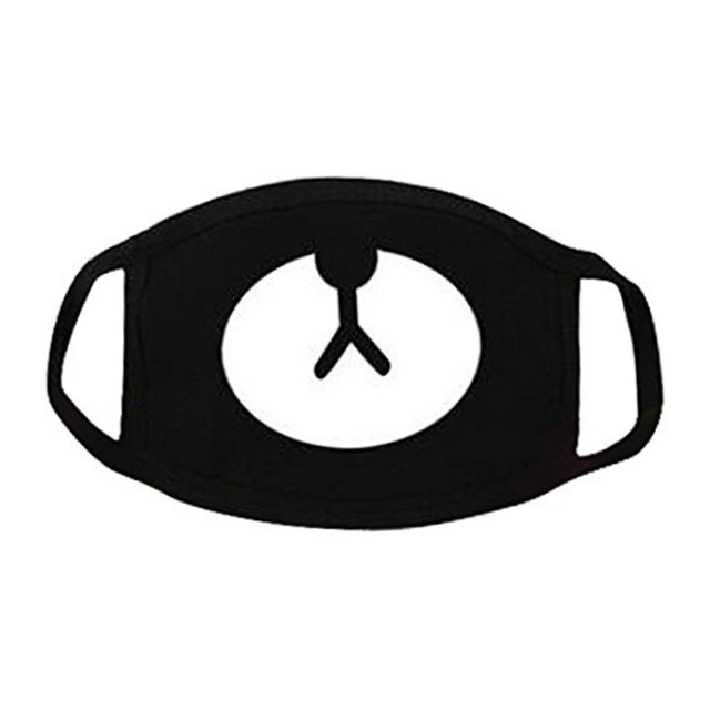 Unisex Black Breathing Mask Cosplay Party Cotton Mouth Outdoor Cool Anti Dust Mask
