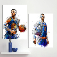 302542ebad7b A Wall Art Canvas Painting Stephen Curry Kristaps Porzingis Dunks Basketball  Star Prints Poster Sports Pictures