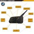Wholesale 1200M Bluetooth helmet Intercom Motorcycle wireless BT interphone upto 6 Riders headset intercomunicadores de motos