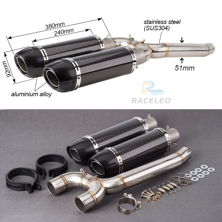 motorcycle FZ6N Slip On For Yamaha FZ6S FZ6  Motorcycle Exhaust Muffler Escape with Link Pipe Tube Full System fz6n exhaust