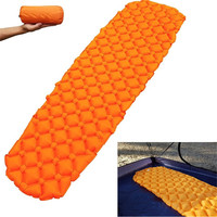 Outdoor Camping Backpacking Sleeping Pad Compact Air Pad Lightweight Inflatable Sleeping TPU Mat Ultralight Portable Hiking