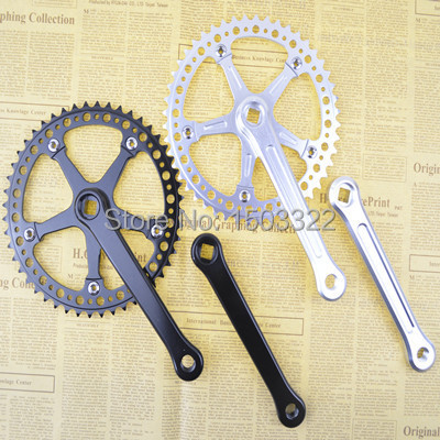 Fixed Gear aluminium alloy cnc hollow out ultralight Bike Cycling Track 48t bcd130 crankset Cranks bicycle bottom bracket gt radial шина gt radial 175 70r14 84t champiro winterpro