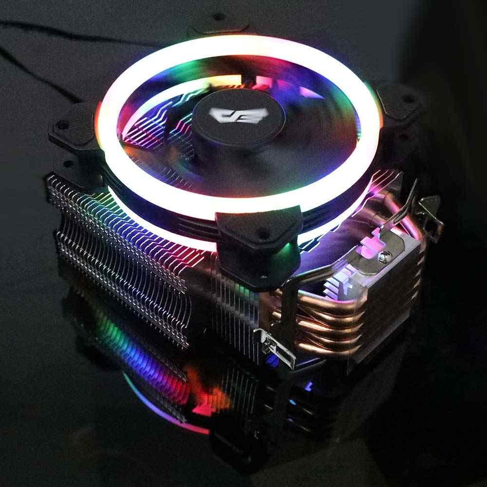 Aigo darkflash L5 LED CPU soğutucu radyatör TDP 285W ısı emici AMD Intel sessiz 120mm 4Pin PC CPU soğutma soğutucu soğutucu Fan