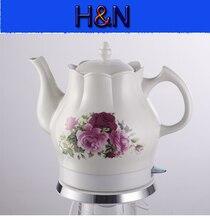 Darmowa dostawa! wysokiej jakości ceramiczna czajnik elektryczny, dzbanek do herbaty, czajnik wody, czerwona Róża, 1200 W, 220 V, 1.5L