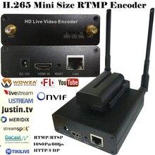 H.265 HEVC/H.264 AVC Wifi HDMI IPTV streaming Codificador para streaming ao vivo Transmitido via suporte wowza RTMP, youtube. facebook…