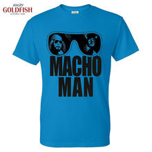 040d9f2f Mens T Shirt Randy Savage Tee short Sleeve O-neck T-Shirt MACHO MAN t  Letter Print Sportwear