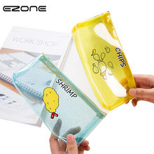 EZONE 1Pcs Cute Cartoon Snack Chips Milk Transparent Pencil Case Plastic School Pencil Bag for Girl Stationery School Supplies(China)