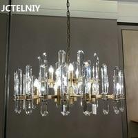 Luxury LED Crystal Chandelier Modern Minimalist Living Room Chandelier Restaurant Chandelier