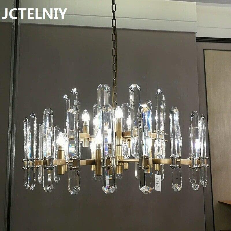 LED de luxe lustre en cristal moderne minimaliste salon lustre restaurant lustre