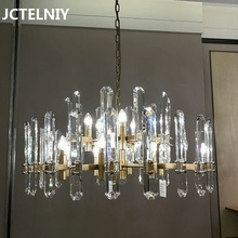 Роскошный светодиодный хрустальный современная люстра в минималистическом стиле, люстра для гостиной, люстра для ресторана