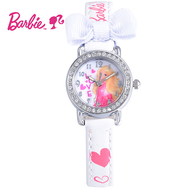 2017 Disney Barbie Kids Watch Children Watch Princess Fashion Cute Wristwatches Girls Leather clock